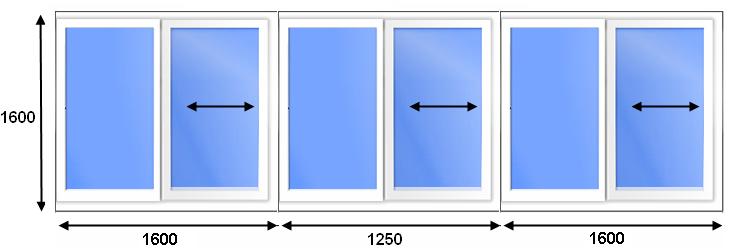 Оптимальный размер раздвижных окон при застеклении балкона.