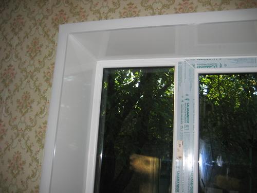Пластиковый откос окна ПВХ